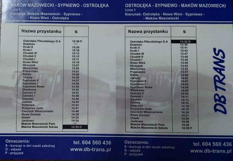 Powiat makowski. Rozkład jazdy autobusów kursujących w dni nauki szkolnej. Jak dojechać do Makowa? Skąd do Ostrołęki? Sprawdź [Aktualizacja]