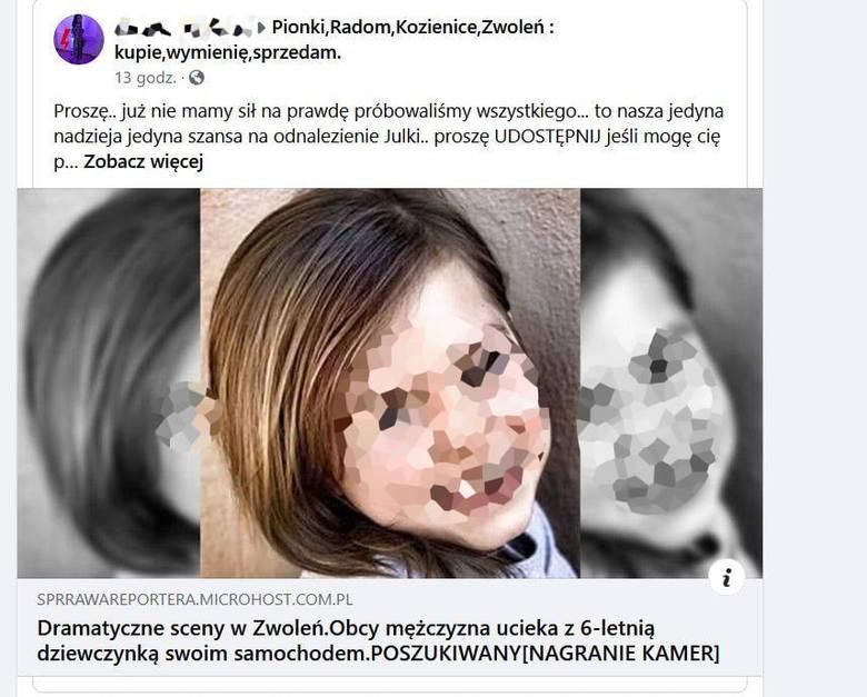 Tak wyglądał jeden z postów, który opublikowano w serwisie Facebook. Na pierwszy rzut oka, wygląda bardzo autentycznie.