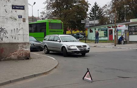 zderzenie samochodów w zielonej górze