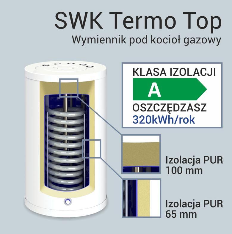 Wymiennik C.W.U SWK Termo Top. Ten model zasługuje na szczególną uwagę