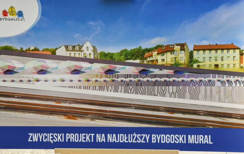 To będzie najdłuższy mural w Bydgoszczy. Prace rozpoczęte - zobacz zdjęcia