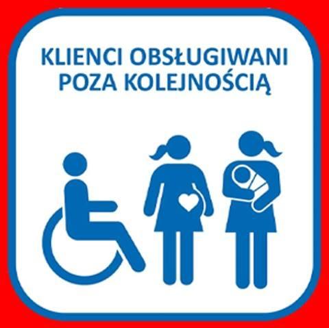 Niepełnosprawni, kobiety w ciąży i osoby z małymi dziemi na poczcie z pierwszeństwem obsługi