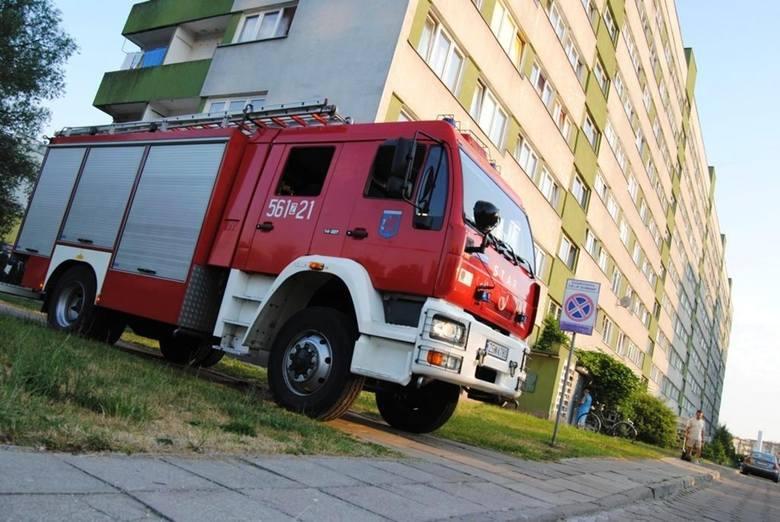 Strażacy interweniowali na Matejki w Świnoujściu w tzw. leningradach.