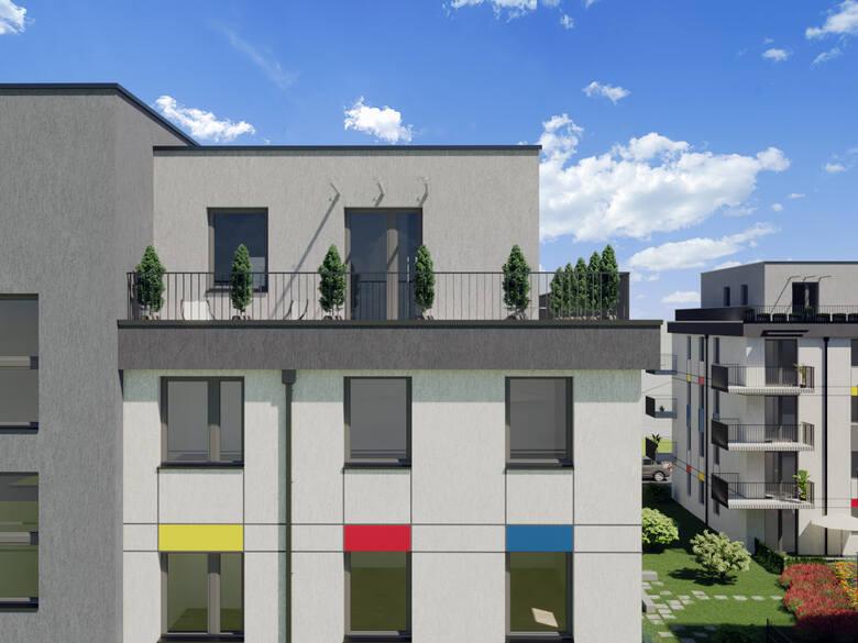 Zespół budynków przy ul. Glogera w Krakowie, inwestycja realizowana jest przez Dom-Bud M. Szaflarski