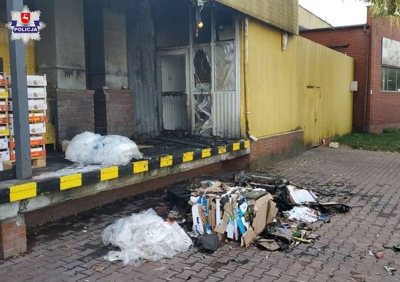 Nocny pożar Stokrotki przy ul. Braci Wieniawskich. Zatrzymany nietrzeźwy 27-latek