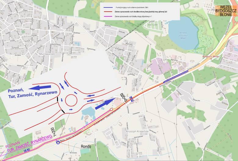 Odcinek Bydgoszcz Błonie - Szubin Północ ma zostać otwarty jeszcze w tym roku.