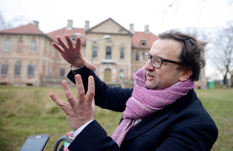 Arkadiusz Michoński marzy o tym, aby uczynić z pałacu w Bojadłach prężny ośrodek kultury