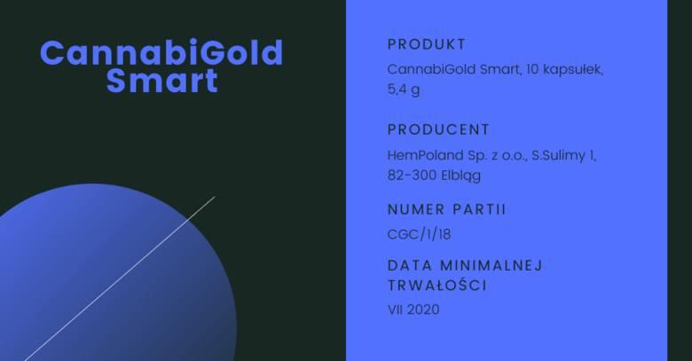 GIS wycofał suplement CannabiGold Smart. Powodem jest obecność tetrahydrokannabinolu w produkcie na poziomie 299 mg/kg. Badania przeprowadziły organy
