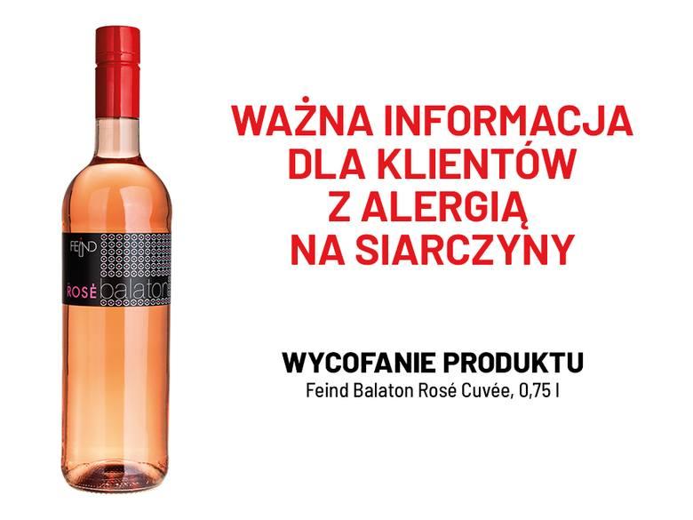 Wino z Lidla wycofane ze sprzedaży.