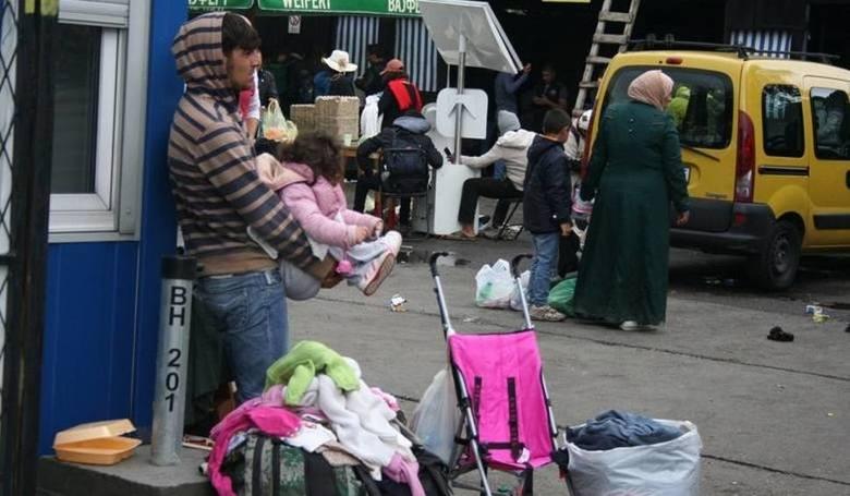 Zdjęcie z punktu pomocy uchodźcom w Belgradzie w Serbii