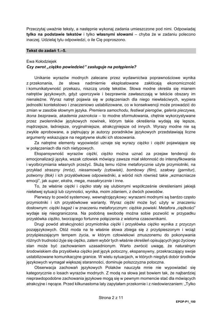 Matura 2021. Język polski poziom podstawowy. Odpowiedzi, wyniki i arkusze.