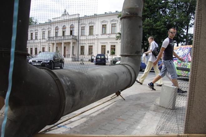 Wandale uszkodzili instalację festiwalu Open City