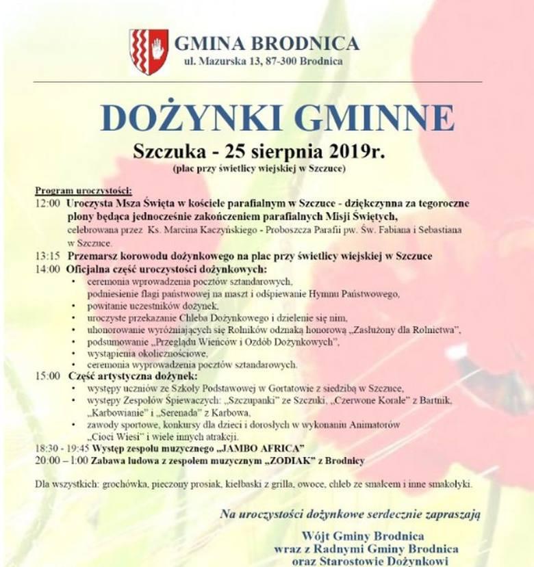 Święto plonów w powiatach: brodnickim i nowomiejskim - 24 i 25 sierpnia [szczegóły]