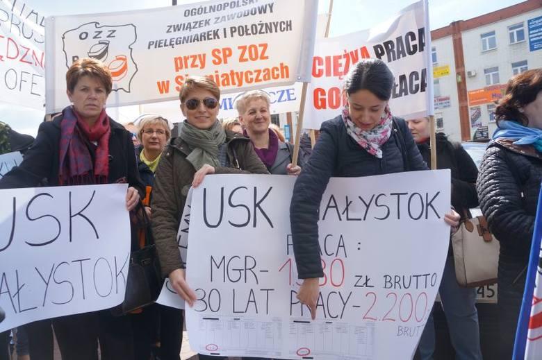 Urząd marszałkowski. Protest pielęgniarek z całego regionu (zdjęcia, wideo)