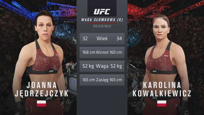 Polskie starcie w UFC 4! Joanna Jędrzejczyk kontra Karolina Kowalkiewicz. Kto wygrał?