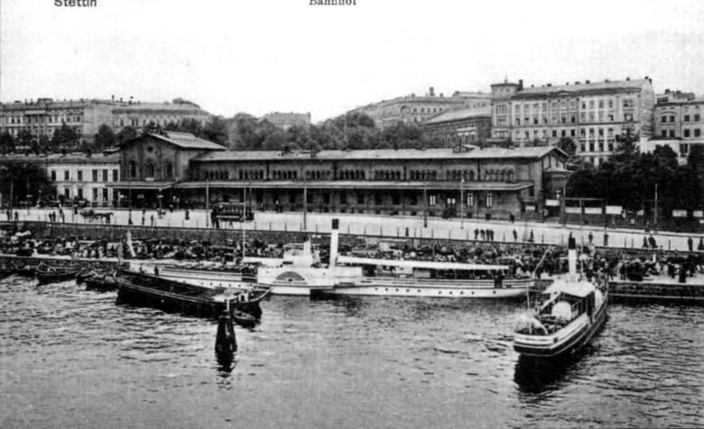 Widok na dworzec od strony Odry.
