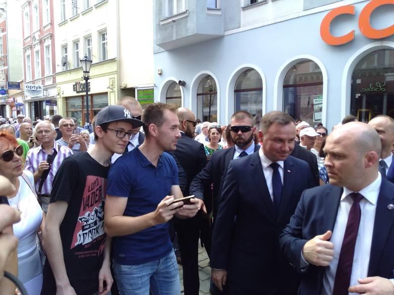 Andrzej Duda, prezydent RP odjechał z rynku ok. godz. 14.50.