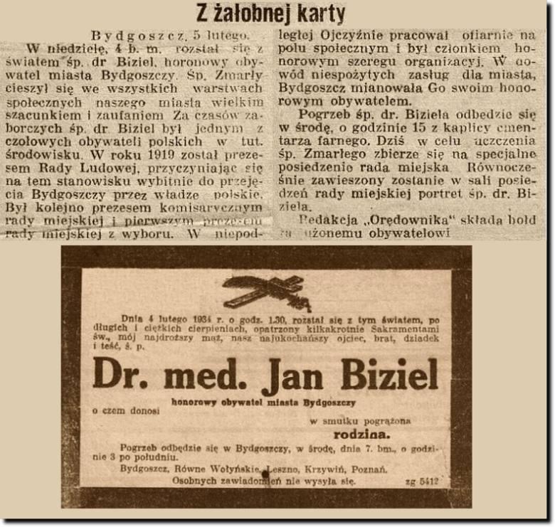Jan Biziel – lekarz, radny, działacz społeczny