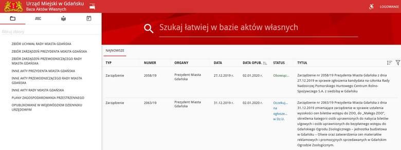 Baza Aktów Własnych. Prostszy dostęp dla mieszkańców do uchwał i zarządzeń prezydenta Gdańska