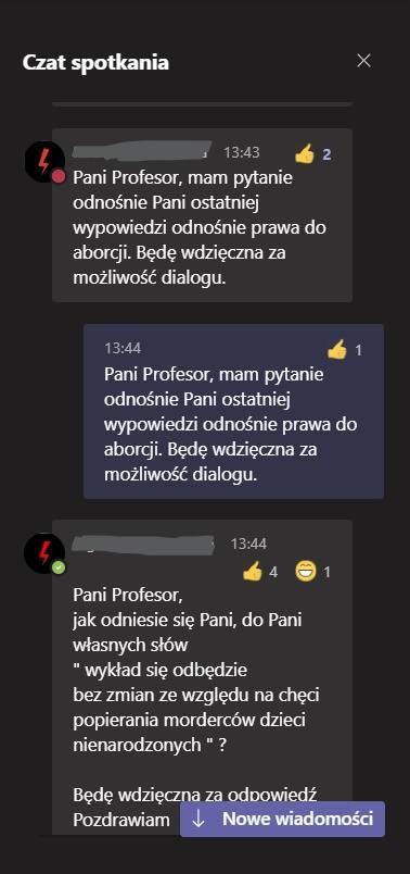 Profesor o protestach: