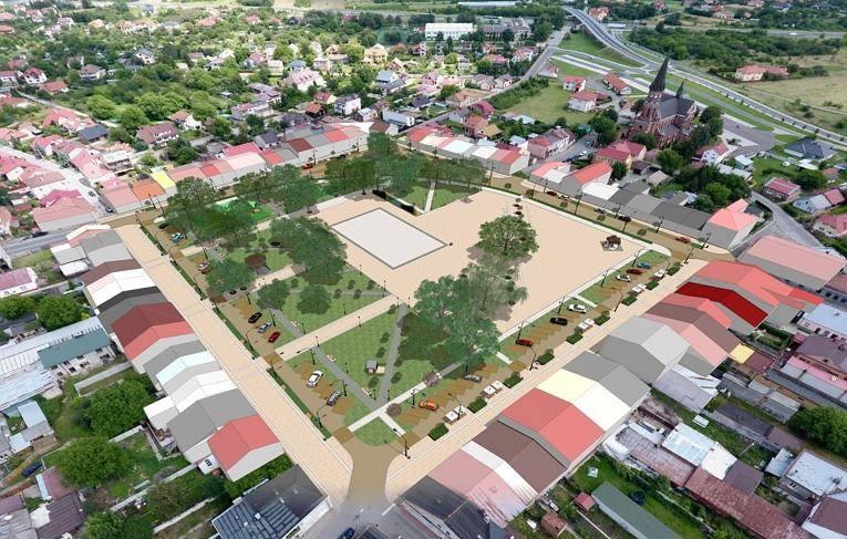"""Jesienią tego roku powinna ruszyć wielka przebudowa Rynku w Stalowej Woli - Rozwadowie oraz modernizacja i rozbudowa budynku """"Sokoła"""". Prace powinny"""