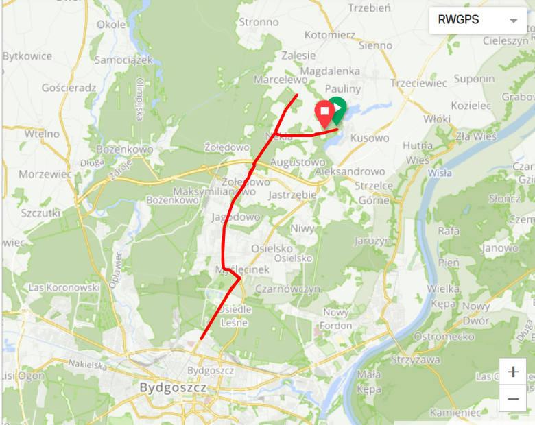 Tak przedstawia się trasa rowerowa. Więcej szczegółów na triathlonpolska.pl/zawody/trasy/