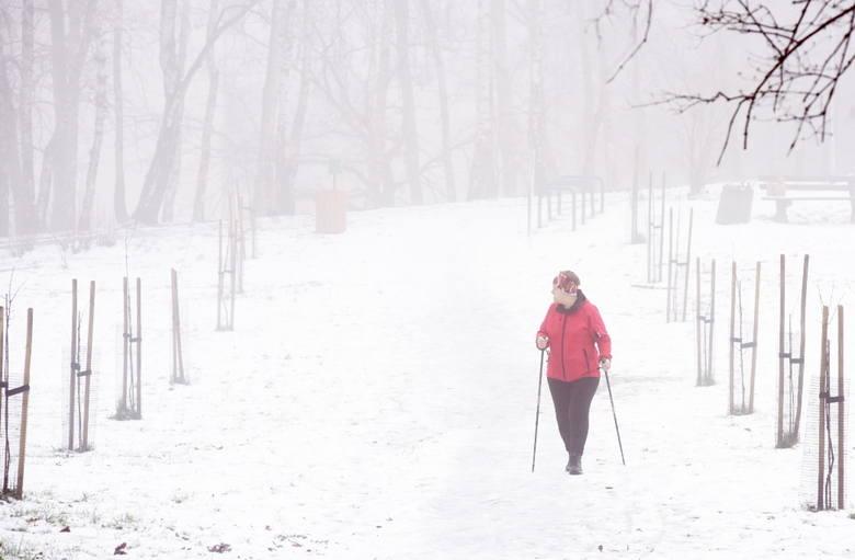 W okolicach Wzgórz Piastowskich wciąż jest jeszcze sporo śniegu.