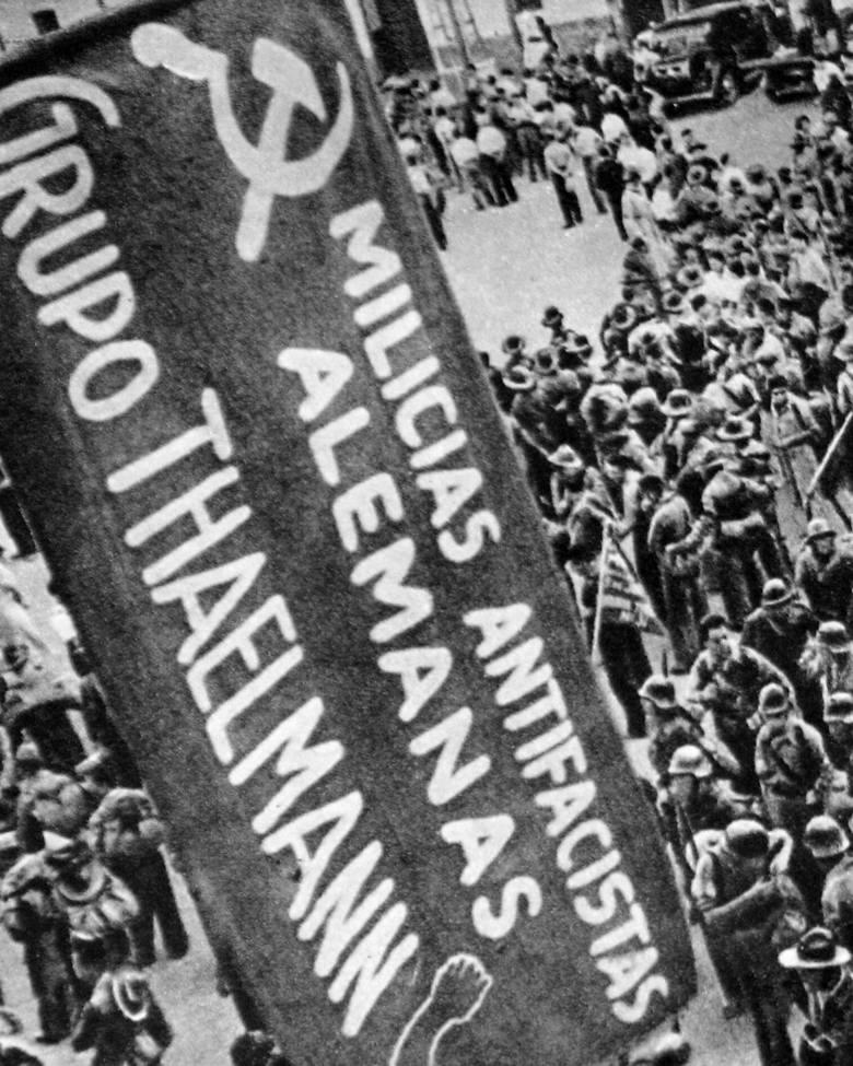 Niemieccy antyfaszyści z oddziału im. Thälmanna.