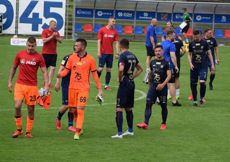 Piłkarze Odry utrzymali wysoki poziom gry przez całe spotkanie.