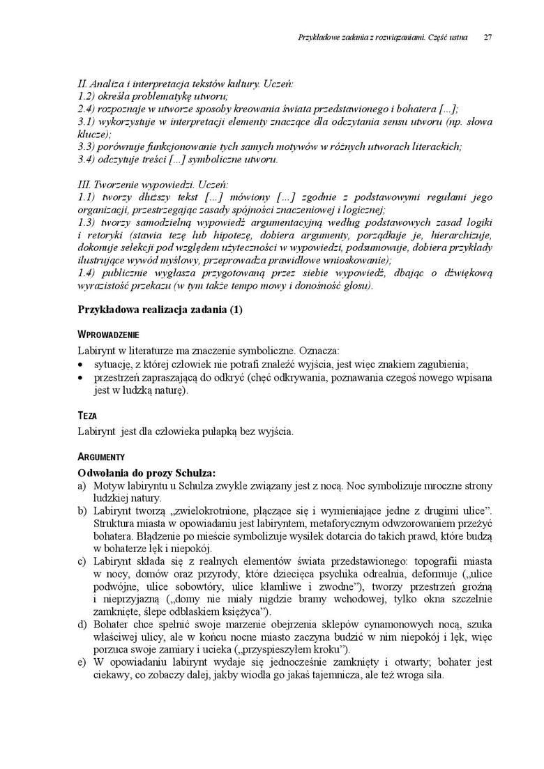 matura ustna polski 2021 wszystkie pytania pdf