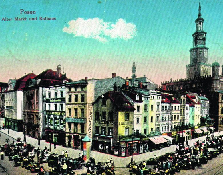 Stary Rynek był jednym z najbardziej zniszczonych miejsc Poznania.  Po  1945 roku zniknęły kamienice Pfitznera i Czepczyńskiego. Zmieniono wygląd domków budniczych