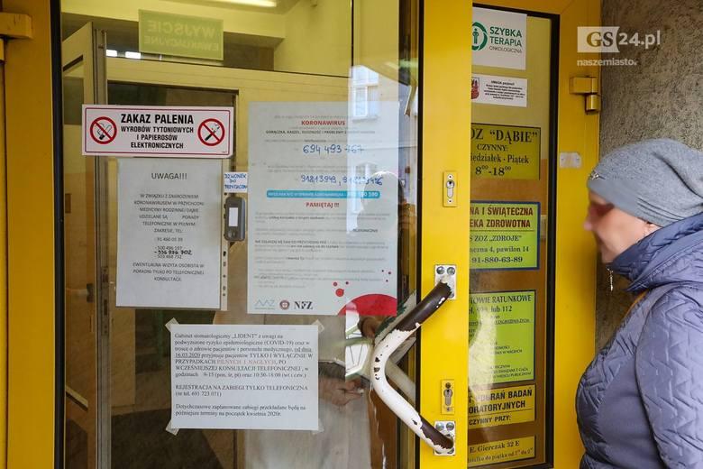 Koronawirus w Szczecinie: Zamknięte przychodnie? Sprawdzamy - 18.03.2020