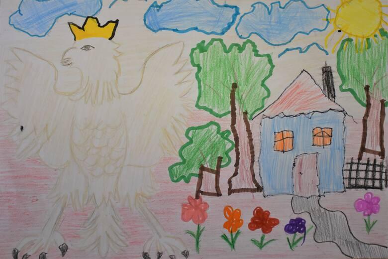 """Dzieci uczestniczyły w przeglądzie rysunkowym """"Biały Orle Nasz"""""""