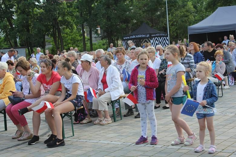 Koncert z okazji 15-lecia Polski w UE na Bulwarze Grotowskiego w Lublińcu 8.06.2019.