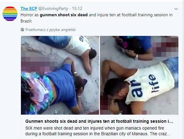 Zabili sześciu piłkarzy podczas treningu! Ciała zawodników leżały w kałuży krwi