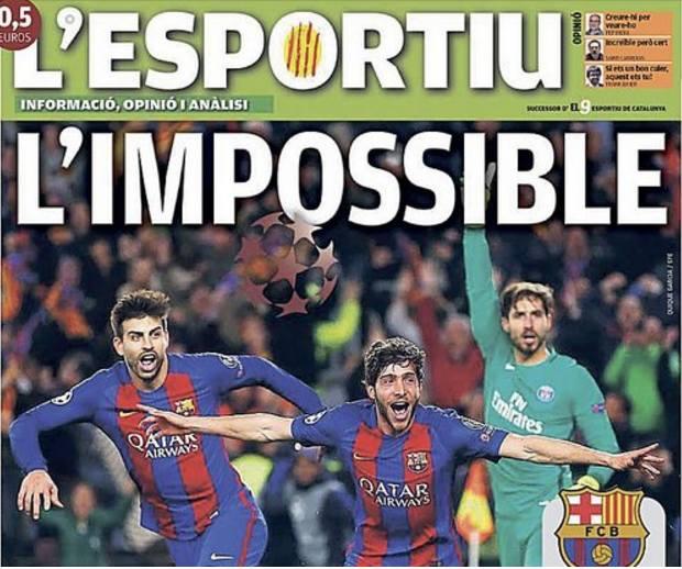 Po meczu Barcelona - PSG: L'impossible, Irracjonalna remontada [OKŁADKI]