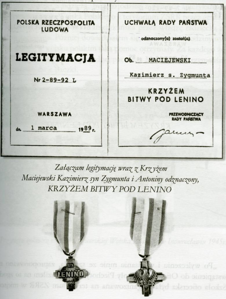 Kazimierz Maciejewski został odznaczony Krzyżem Bitwy pod Lenino. Jego brat Aleksander także – pośmiertnie