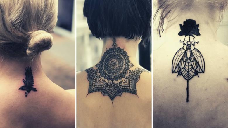 Ci, którzy chcą zrobić sobie pierwszy tatuaż, często chcą, by był on w takim miejscu na ciele, by w razie czego można było go łatwo zakryć. Kark wydaje