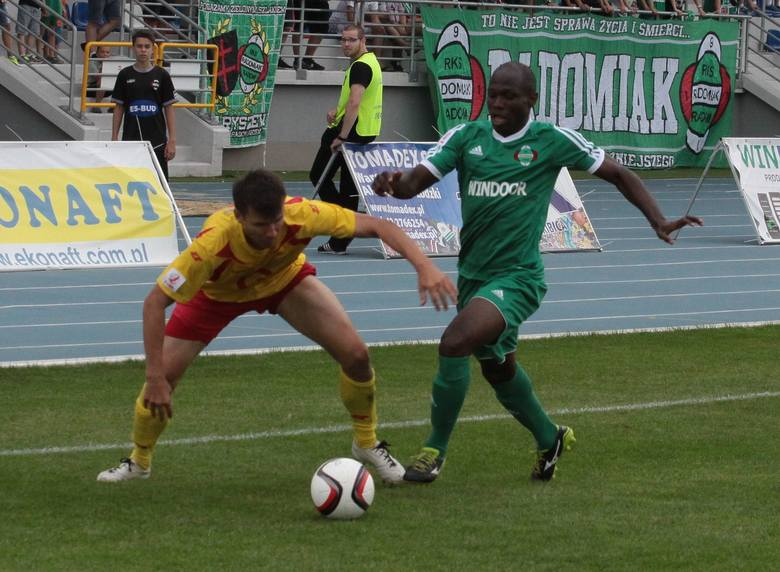 Chinonso Agu znalazł się w kadrze Radomiaka na mecz z Gryfem w Wejherowie.