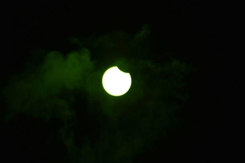Częściowe zaćmienie słońca, 10 czerwca, w Sępólnie Krajeńskim