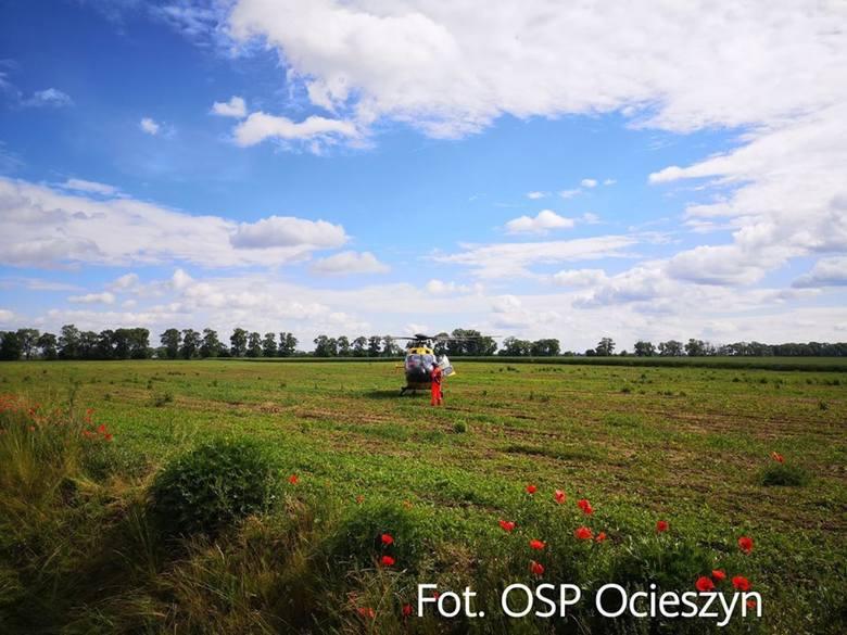 W miejscowości Ocieszyn na terenie powiatu obornickiego w sobotę rano doszło do tragicznego wypadku. Zginął motocyklista. Jego pasażerka jest ranna.
