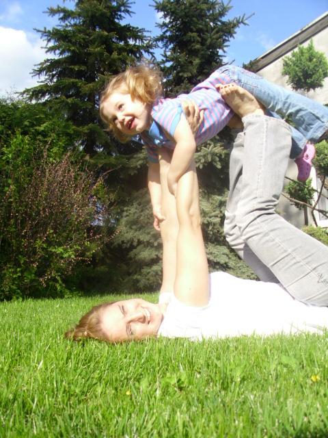 Mama i dziecko: Olga Przybył, córka: Malwinka [45]