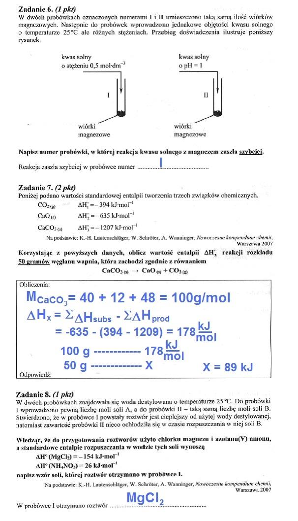 matura chemia maj 2012 odpowiedzi