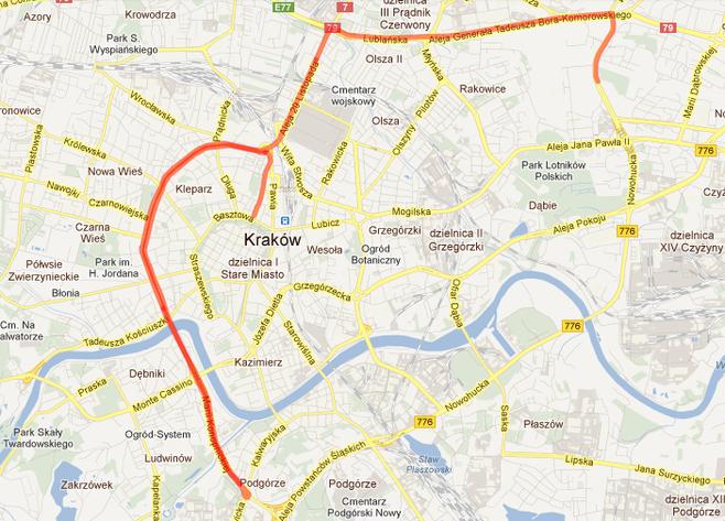 Uwaga W Poniedzialek Taksowkarze Zablokuja Krakow Mapa