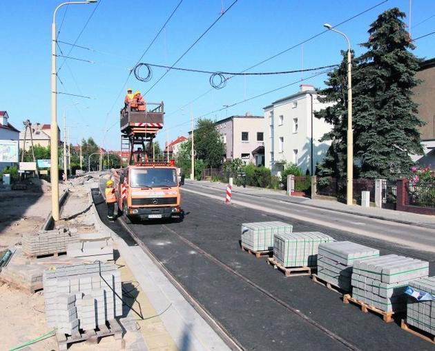 Na ul. Winogrady (na zdjęciu) prace dobiegają końca, niebawem rozpoczną się na Pułaskiego