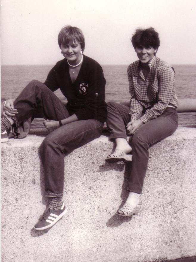 1980, Kołobrzeg. Wypoczynek po igrzyskach. W tle znów woda