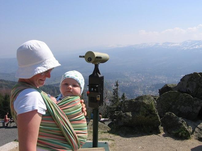 Paulina Gucka z synem Antosiem