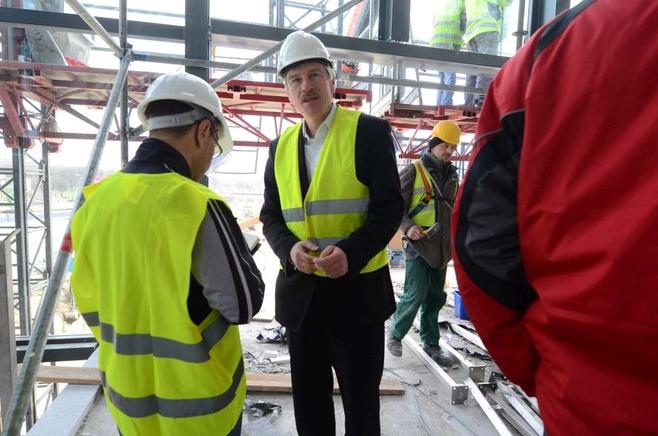 Poznań: Prezydent na budowie dworca kolejowego [FILM ZDJĘCIA]