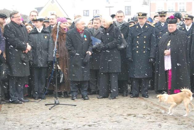 Wizyta prezydenta Lecha Kaczyńskiego w Pucku