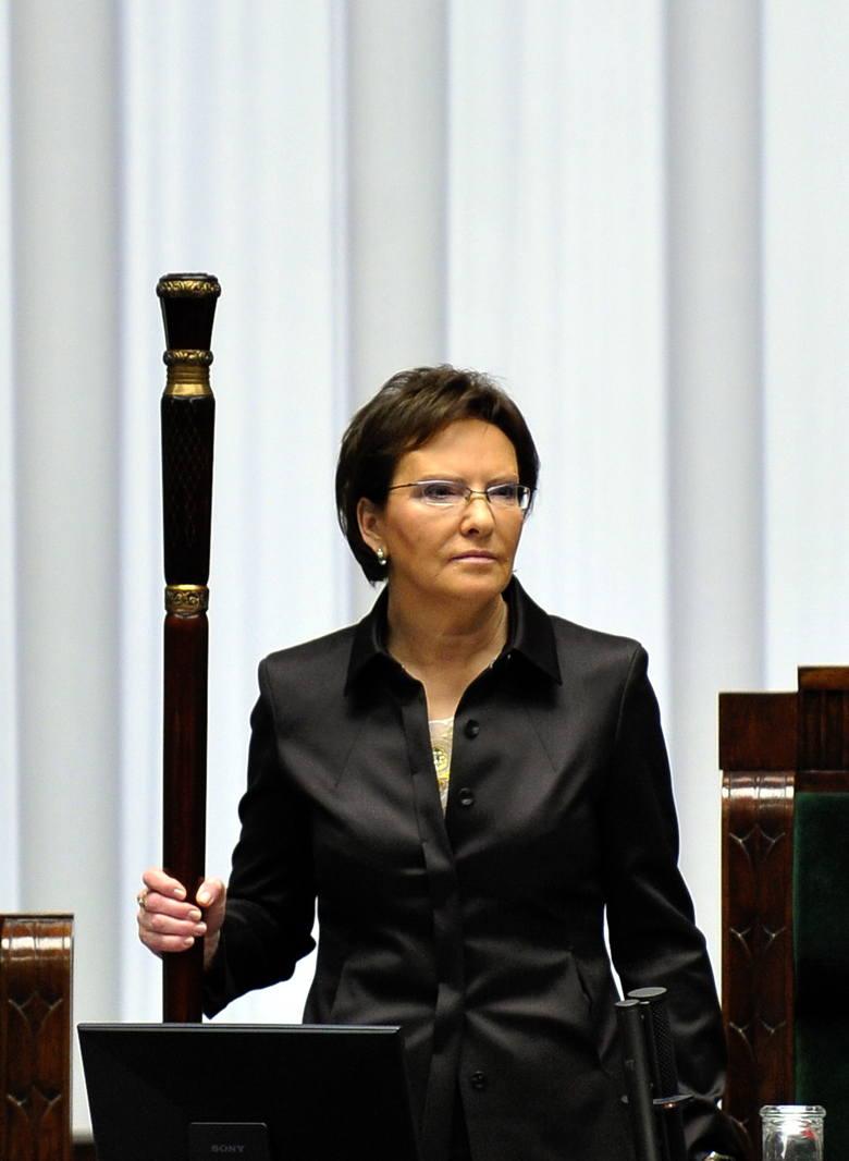 Marszałek Sejmu Ewa Kopacz: 16 700 zł brutto miesięcznie